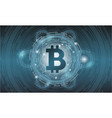 digital bitcoin crypto currency background vector image