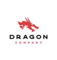 dragon silhouette logo design vector image
