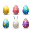 easter eggs painted with spring pattern vector image vector image