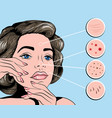 facial treatmets pop art style vector image