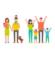 family father and mother kids vector image