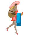 Fashionista Beach Girl vector image vector image