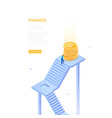 finance concept - modern isometric web vector image