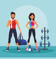fitness people trainning vector image