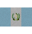 Flags Guatemala on denim texture vector image