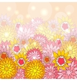 Floral background with hand-drawn flowers vector image vector image