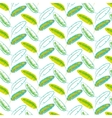 Green banana palm leaves seamless pattern vector image