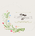 Hand Drawn Floral Design vector image vector image