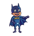 Happy halloween Cartoon cute child in costume vector image