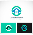 home icon round logo vector image vector image