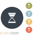 hourglass waiting vector image