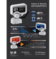 info graphic finance and business vector image