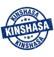 kinshasa blue round grunge stamp vector image vector image