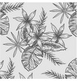 line flower pattern vector image