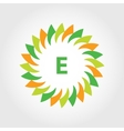 logo energy efficiency eco energy sun vector image