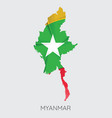 map of myanmar vector image vector image