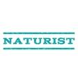 Naturist Watermark Stamp vector image vector image