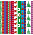 New Year 2015 greeting card with vertical strips vector image vector image