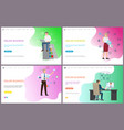 online business working male laptop searching vector image vector image