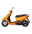 orange motor scooter isolated on white vector image