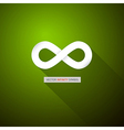 Paper Infinity Symbol on Abstract Green Background vector image vector image