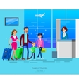 People in airport vector image