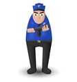 police patrolling stand vector image vector image