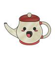 porcelain tea jug kawaii cartoon vector image vector image
