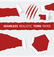 realistic seamless torn paper and scratch claws vector image vector image