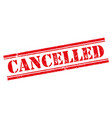 red stamp cancelled vector image vector image
