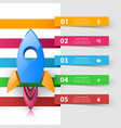rocket icon abstract infographic vector image vector image