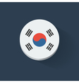 Round icon with flag of South Korea vector image vector image