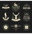 Set of Hunting and Fishing Labels Badges Logos vector image