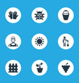 set of simple horticulture vector image vector image