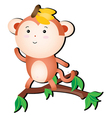 silly monkey vector image vector image