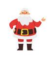 smiling santa claus vector image vector image