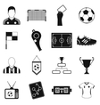Soccer black simple icons set vector image vector image