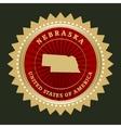 Star label Nebraska vector image vector image