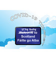 stay away welcome to scotland sign vector image vector image