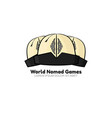 template logo for world nomad games vector image