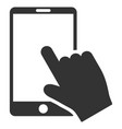 touch smartphone flat icon vector image vector image