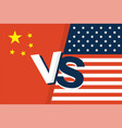 united states of america flag and china flag vector image