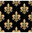 Vintage seamless golden fleur-de-lis pattern vector image vector image