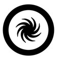 whirpool black icon in circle vector image vector image