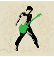 Young Guitar Player vector image vector image