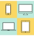 laptop tablet computer monitor and smartphone vector image