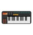 music keyboard icon vector image