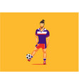 soccer player sports vector image