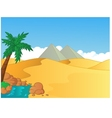 Cartoon of small oasis in the desert vector image