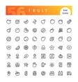 Fruit Line Icons Set vector image